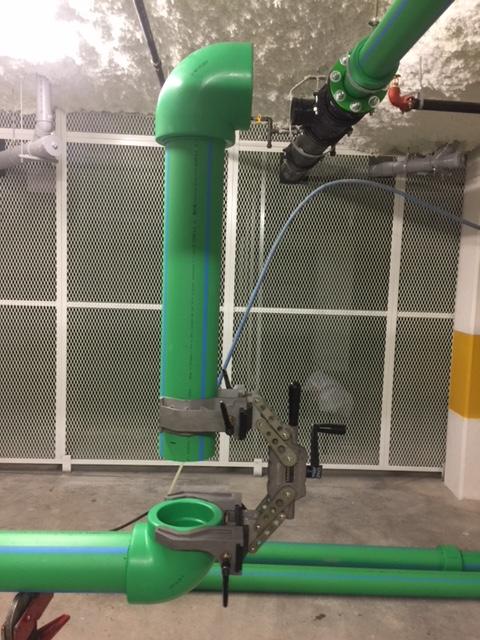 Mechanical Room piping elbows - MV Mechanical Inc.
