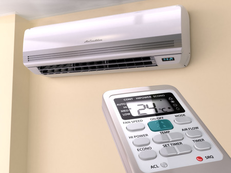 Wall air conditioning unit with remote control - MV Mechanical Inc.