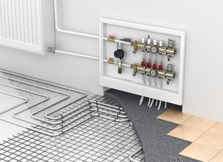 In floor heating concept drawing - MV Mechanical Inc.