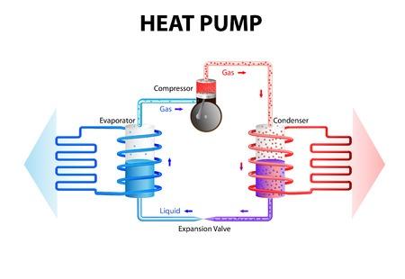 Infographic of how a heat pump works - MV Mechanical Inc.