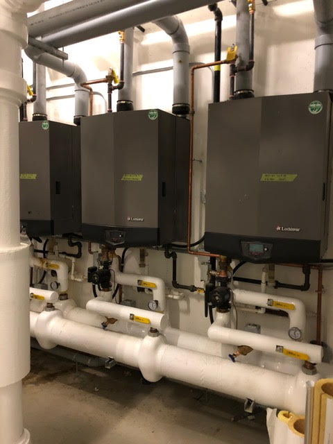 Newly completed mechanical room system - MV Mechanical Inc.