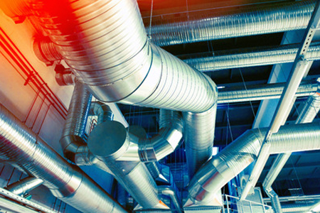 Ductwork in new high rise building - MV Mechanical Inc.