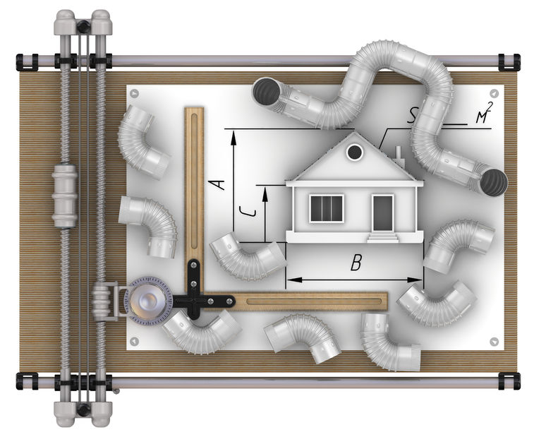 Draft table with image of ventilation calculations - MV Mechanical Inc.